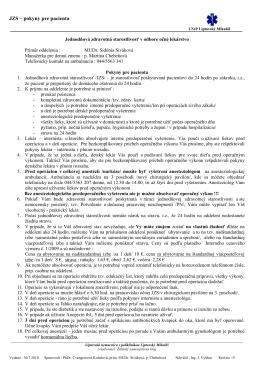 JZS - pokyny pre pacienta - Liptovská nemocnica s poliklinikou