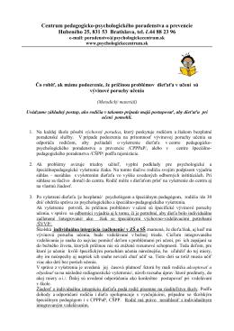 špec.ped. integrácia - Centrum pedagogicko