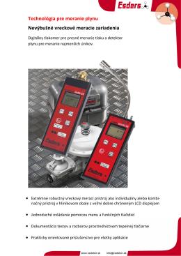 Technológia pre meranie plynu Nevýbušné vreckové