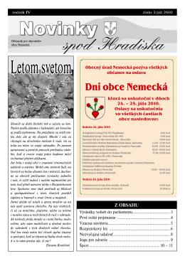 Obecné noviny 2/2010