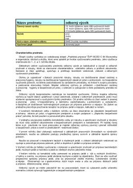 Dodatok k ŠKVP64C-oas-OV