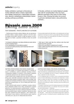 Living anno 2008 Bývanie anno 2008