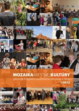 Mozaika 2012/1 - Krajské osvetové stredisko v Nitre