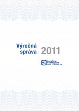 Výročná správa 2011 - Považská vodárenská spoločnosť, as