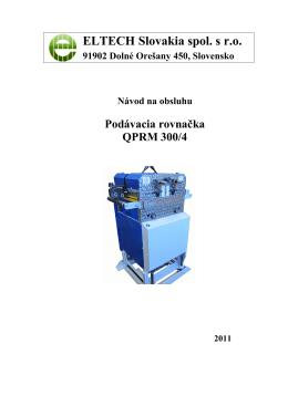 Návod na obsluhu - QPRM (pdf, 3,6 MB)
