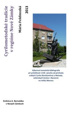 Cyrilometodské tradície v regióne Nové Zámky
