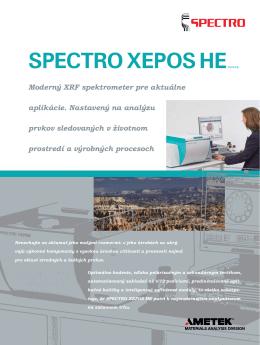SPECTRO XEPOS HE - SPECTRO APS spol. s ro