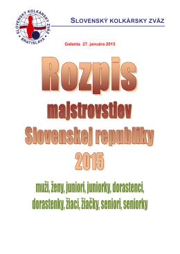 Rozpis M-SR - Slovenský kolkársky zväz