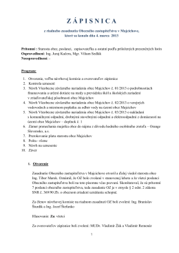 Zápisnica z riadneho zasadnutia OZ 04.04.2013