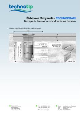 Štrbinové žľaby malé - TECHNODRAIN Napojenie líniového