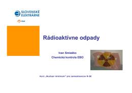 Rádioaktívne odpady