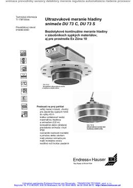 Ultrazvukove snimace DU73C DU73S DU 73 C DU 73 S