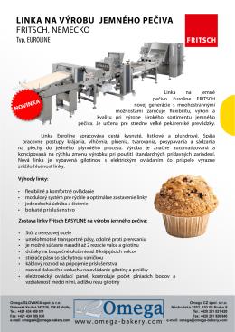 Linka na výrobu jemného pečiva EUROLINE - Omega