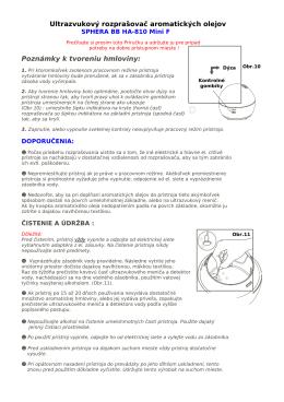 Ultrazvukový rozprašovač aromatických olejov