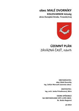 Návrh územného plánu obce Malé Dvorníky