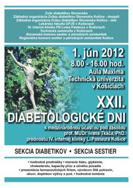 DIABETOLOGICKÉ DNI