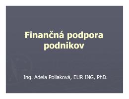 Finančná podpora podnikov