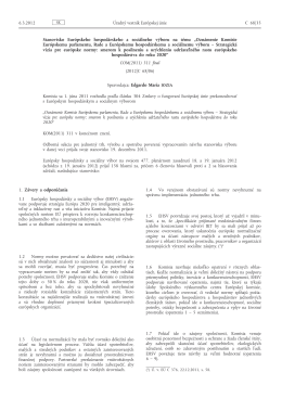 Stanovisko Európskeho hospodárskeho a sociálneho výboru na