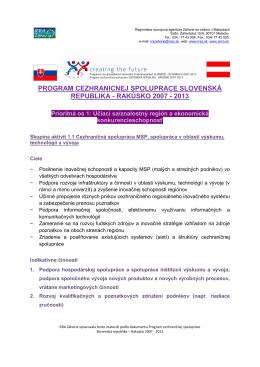 Program cezhraničnej spolupráce Slovenská republika