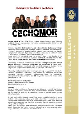 Exkluzívny hudobný bonbónik - Čechomor