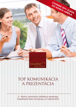 TOP KOMUNIKÁCIA A PREZENTÁCIA - Comm-pass