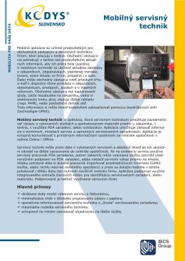 Prospekt Mobilný servisný technik (.PDF)