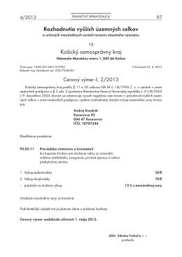 Finančný spravodajca 4/2013