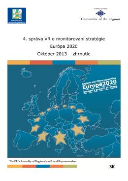 4. správa VR o monitorovaní stratégie Európa 2020