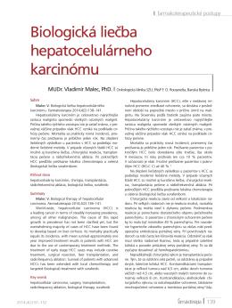Biologická liečba hepatocelulárneho karcinómu