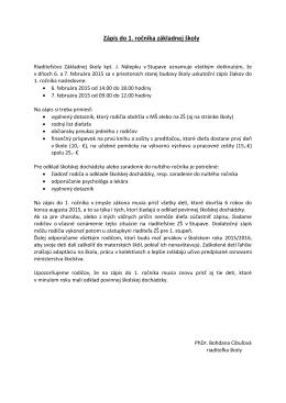dokumente - Základná škola kpt. J. Nálepku v Stupave