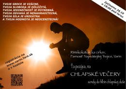 CHLAPSKÉ VEČERY - Varín