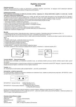 Návod HD 210 - termostaty.sk