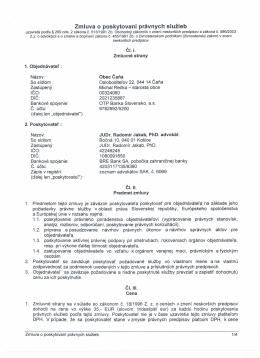 Zmluva o poskytovaní právnych služieb