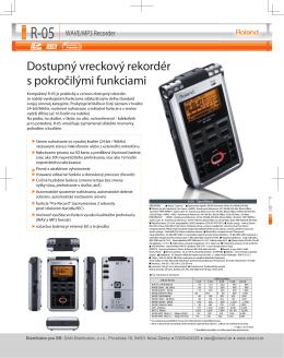 Produktová brožúra k R-05 (v slovenskom jazyku)