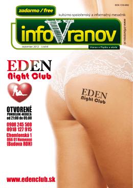 OTVORENÉ - InfoVranov.sk