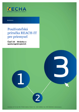 REACH-IT Industry User Manual - ECHA