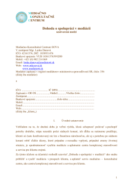 vzor-Dohoda o spolupráci- Dokument aplikace