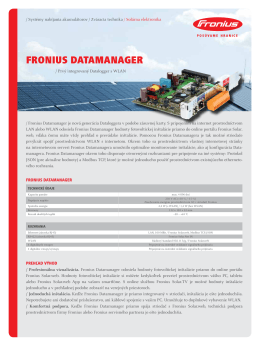 FRONIUS DATAMANAGER