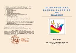 xv. akademick á bansk á bystrica 2013 slovensko