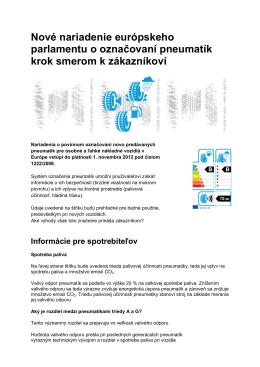 Nové nariadenie európskeho parlamentu o označovaní