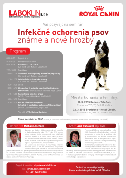 Infekčné ochorenia psov známe a nové hrozby