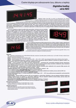 Digitálne hodiny série NDC