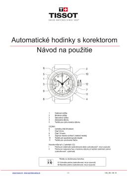 148 - Automatické hodinky s korektorom