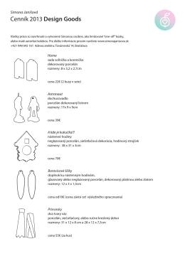 Cenník 2013 Design Goods