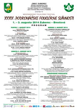 Programový plagát XXXIX. Podroháčskych folklórnych