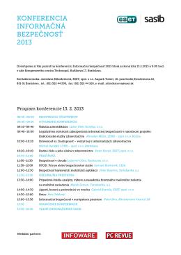 Program konferencie 13. 2. 2013