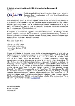 CS Link - zaradenie Eurosport 2