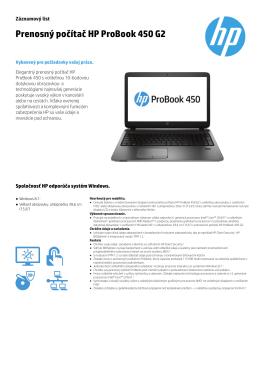 Prenosný počítač HP ProBook 450 G2