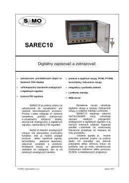 SAREC10 - SAMO Automation sro, Prešov