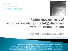 Radiosynoviorthesis in joints less frequently affected with